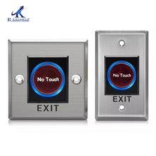 Botões de pressão inteligentes do sensor do ir nenhum toque porta infravermelha saída botão de liberação para o sistema de controle acesso