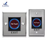 스마트 ir 센서 푸시 버튼 no touch 적외선 도어 출구 푸시 해제 버튼 스위치 액세스 제어 시스템 용|엑세스 제어 액세사리|보안 & 보호 -