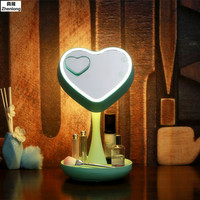 Creativity Cosmetic Mirror Table Lamp Usb Strange Bedside Lamp Cosmetic Artifact Valentine's Day Present Gift for Lover Desk LED