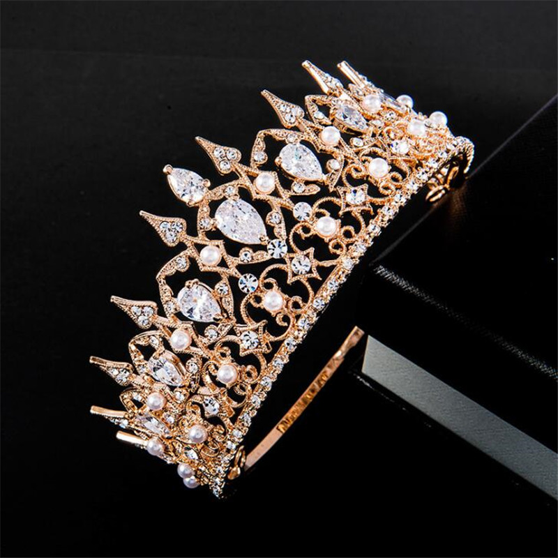 Dazzling Rhinestones Hari Jewelry For Bridal Sliver Wedding Tiaras Girls Crown Headwear Adornos Para El Pelo H228 Back To Search Resultsjewelry & Accessories