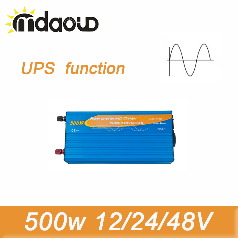 цена на 1000W Peak Pure Sine Wave Inverter 500W 12/24/48VDC To 100/110/120/220/230/240VAC Solar Power Inverter with UPS function