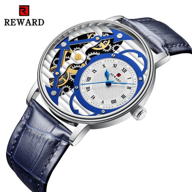 Relogio Masculino New REWARD Watch Men Fashion Skeleton Mens Watch Waterproof Mens Watches Top Brand Luxury Clock Reloj Hombre