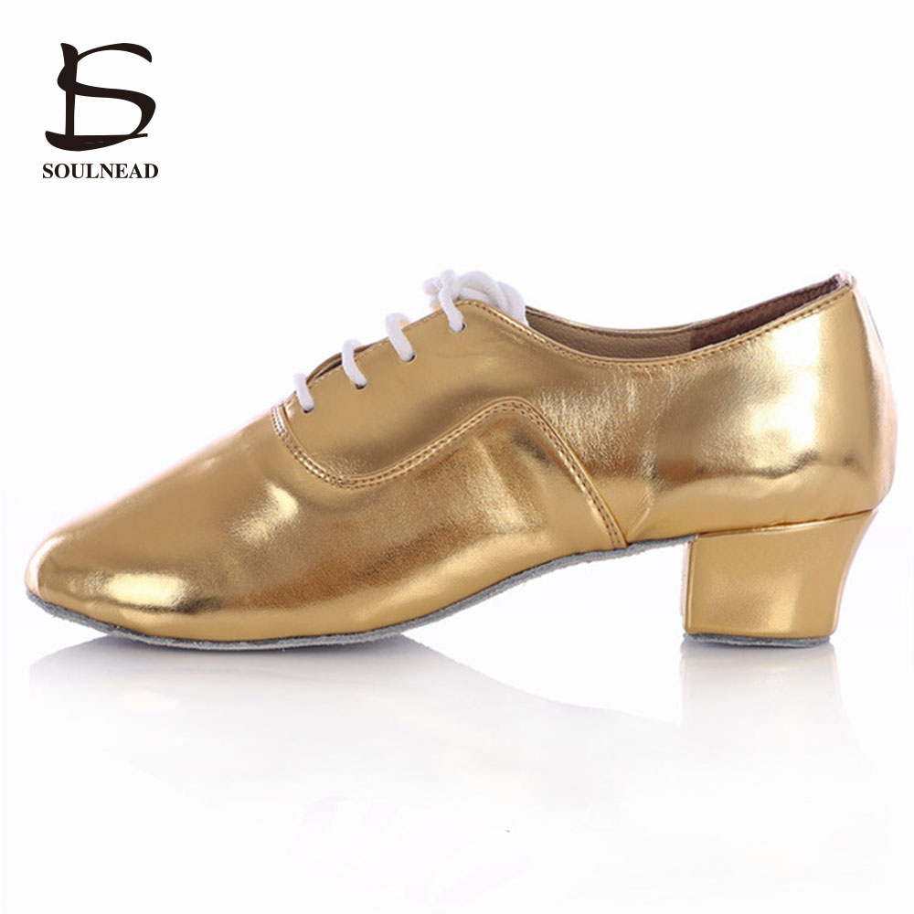 New Modern Men's Ballroom Tango Latin Dance Shoes Man Dance Shoes Gold Silver White Black Color Dance Shoes Man Dancing For Boy