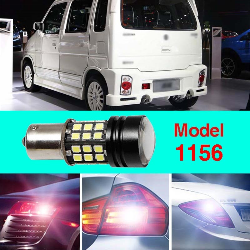 Error Free 1156 Socket 360 Degrees Projector Lens LED Backup Reverse light R5 Chips Replacement Bulb For Suzuki Wagon R ruiandsion 2x75w 900lm 15smd xbd chips red error free 1156 ba15s p21w led backup revers light canbus 12 24vdc