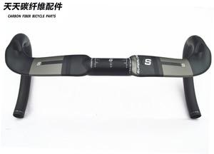 Image 2 - Superlogic carbon fiber bicycle handlebar Reduce resistance bent bar  strengthen bike parts 400/420/440mm inner routing ud matte