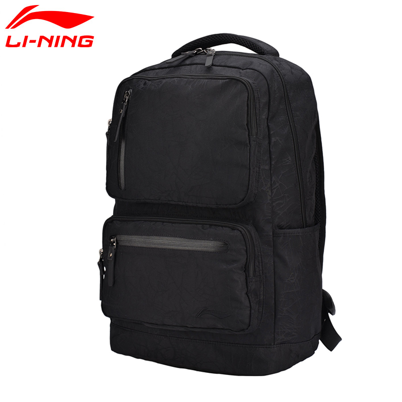 Li-Ning Unisex Urban Sport Backpack Polyester Classic City Jogging Bag LiNing Sports Bag ABSM118 BBF231