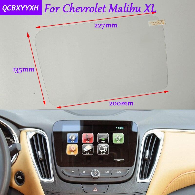 Car Sticker font b GPS b font Navigation Screen Glass Protective Film For Chevrolet Malibu XL