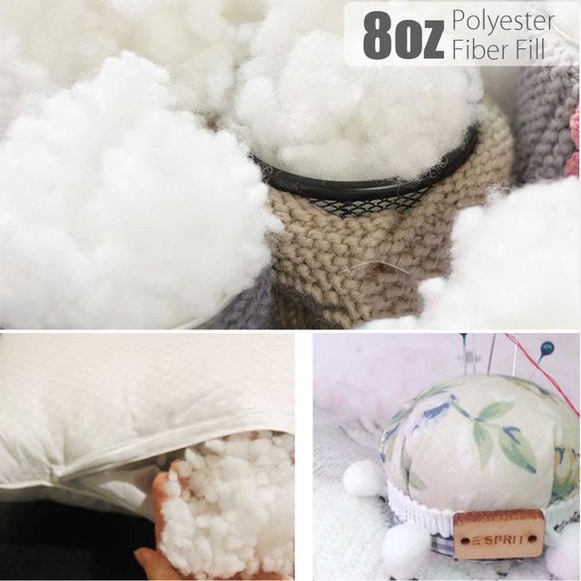 40oz 40g Polyester Fiber Fill Stuffed Toy Pillow Insert Pouf Classy Pouf Filling