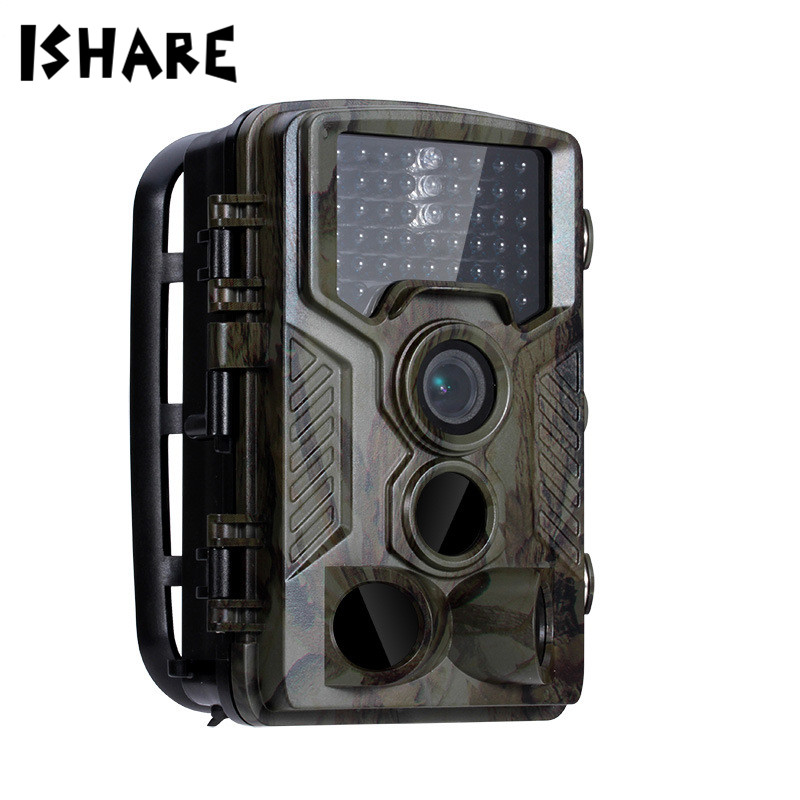 ISHARE Hunting Trail Camera Full HD 1080P Video Night Vision Digital Cam Scouting Hunter Cameras Wildlife Camera Photo Traps digital scouting hunting camera h3 detection trail cameras trap wildlife ir infrared led video recorder night vision hunter cam