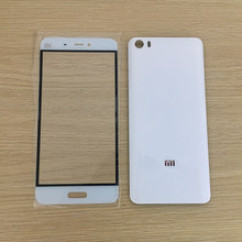 For XIAOMI Mi5 Mi 5 New Rear Housing Battery Door Back Glass Cover Case + Front Touch Screen Outer Glass Panel Black White Gold(China)