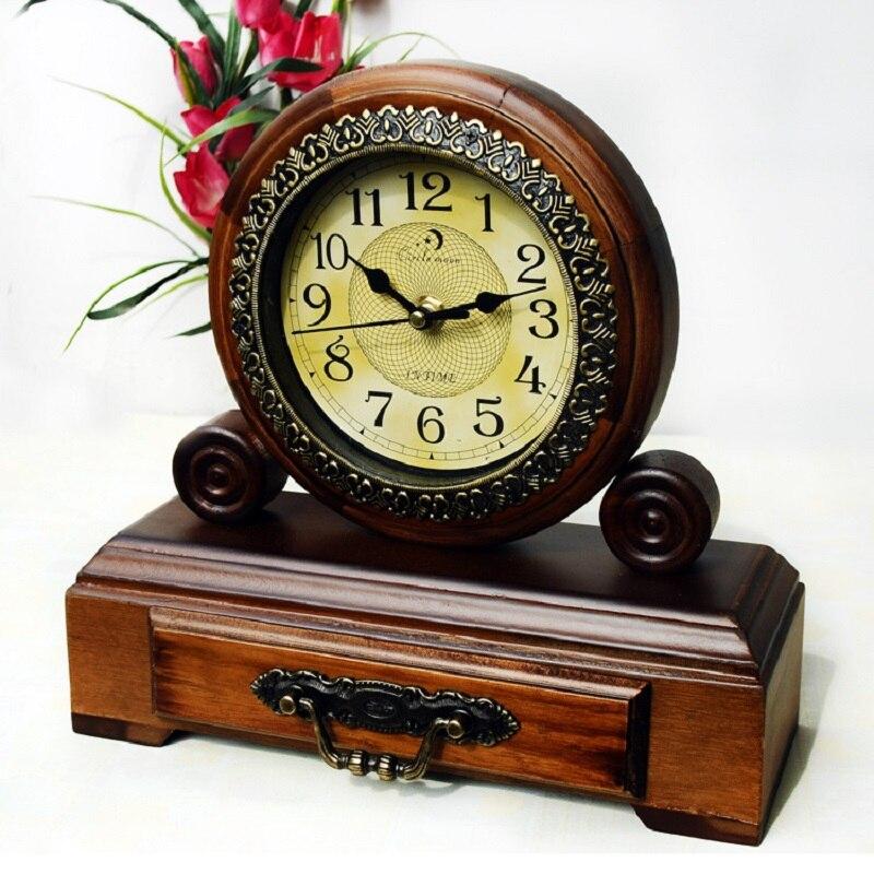 Wood table clock digital watch reloj saat clocks masa for Reloj digital de mesa