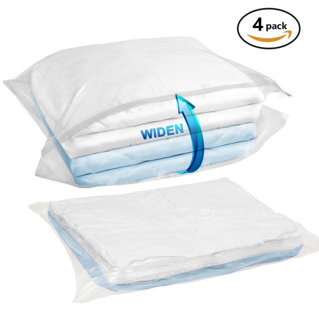 Vacuum Bag Clothes Wide Side Jumbo Storage Bags Compressed E Saver For Pillows Comforter