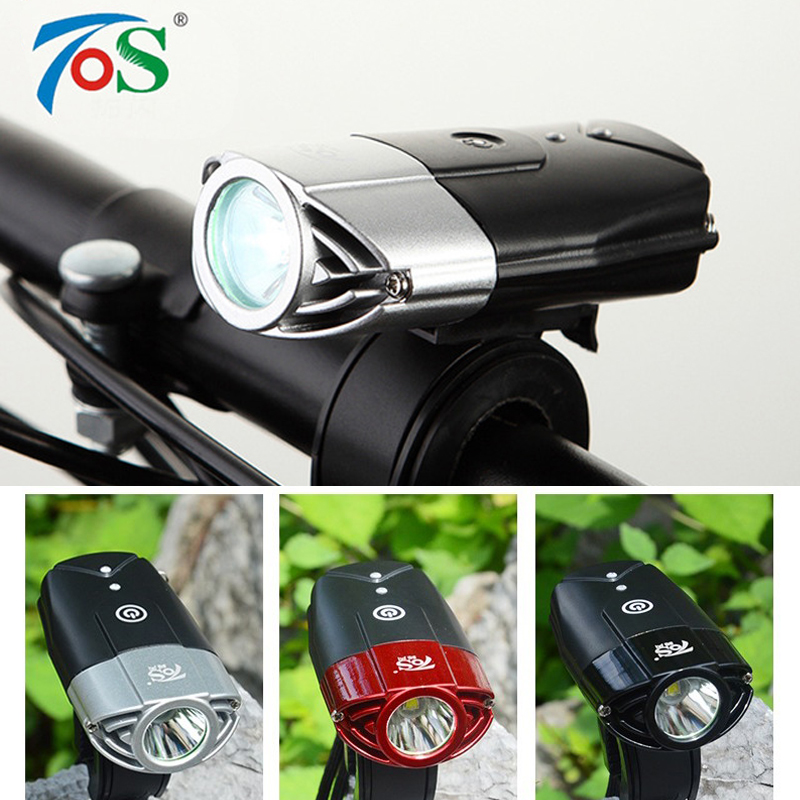 TOS flashlight for bicycle light cycling led bicycle accessories front bike light Lantern on a bicycle accessory headlight lamp