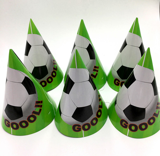 6 Stks Prins Voetbal Verjaardag Papier Hoeden Kids
