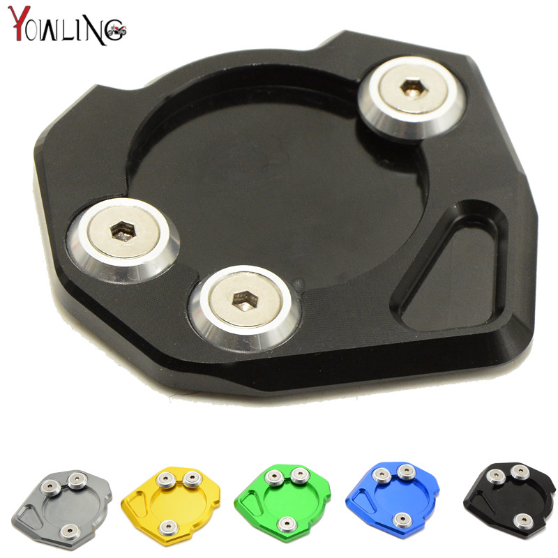 CNC Motorcycle accessories motorbike Side Kickstand Stand Extension Plate For KTM DUKE 200 390 2013 2014 2015 Have 5 Colors for ktm duke 125 200 390 rc 125 200 390 motorcycle cnc aluminum kickstand side stand enlarger support plate