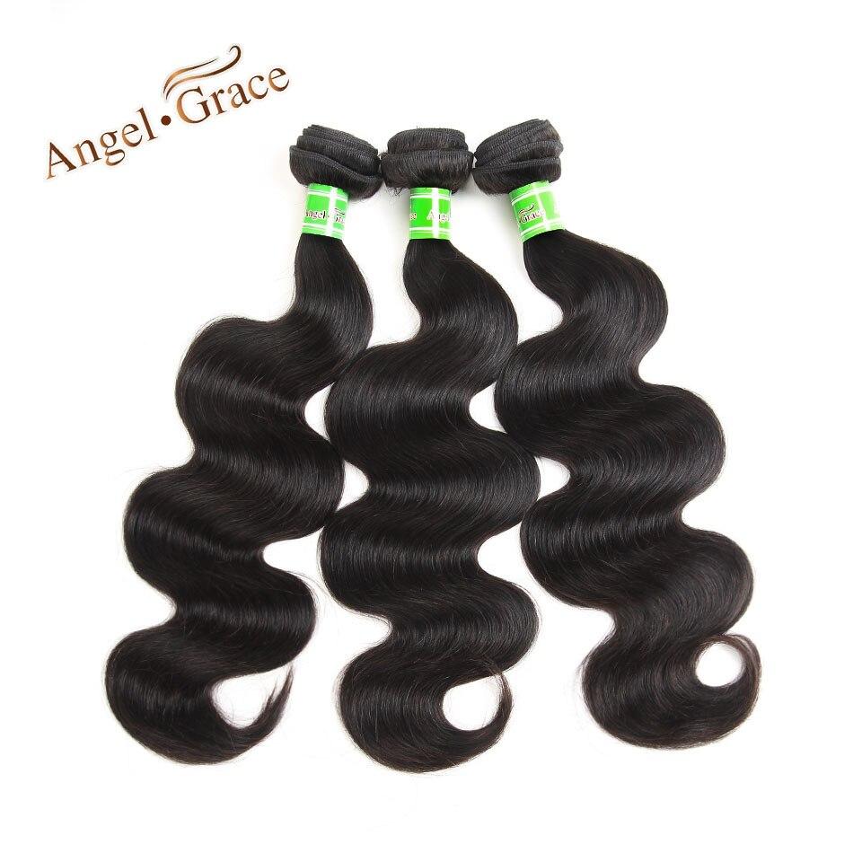 ANGEL GRACE HAIR Brazilian Body Wave 3 Bundles Human Hair 3 PCS Lot Remy Hair Body Wave Bundles 10-28 Inch Free Shipping