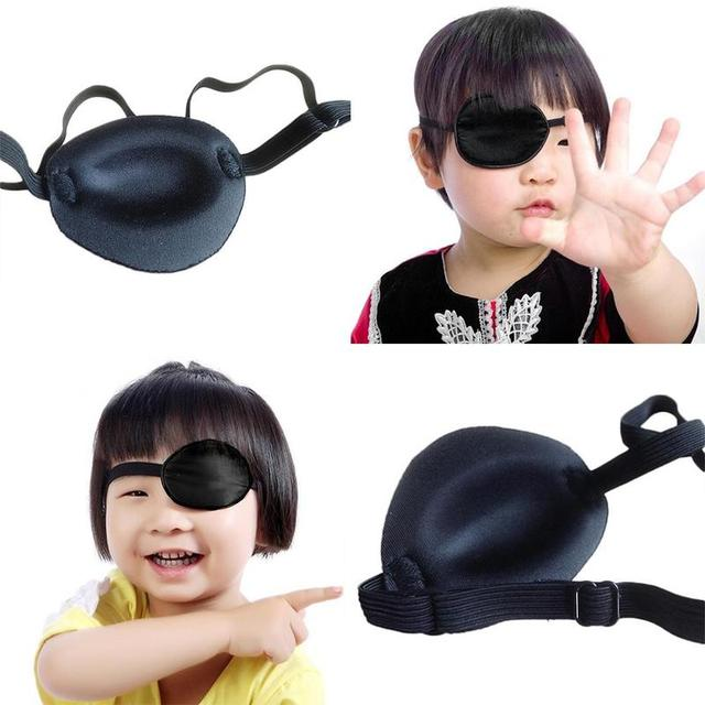 HOT Unisex Black Single Eye Patch  Washable Adjustable Concave Eye Patch Medical Patch Pirate Cosplay Costume 2