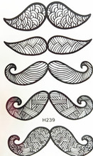 10x6cm Temporary Small Fashion Tattoo Black Big Sexy Moustache Waterproof Temporary Tattoo Stickers