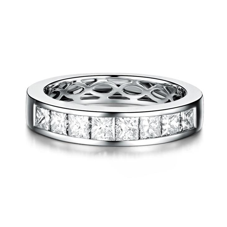 ZOCAI Nyata 18 K emas putih 0.9 ct bersertifikat asli berlian - Perhiasan bagus - Foto 2