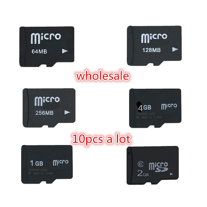 Big Promotion!!! 10pcs/lot 2GB 1GB 128MB 256MB 512MB Micro Card TF CARD MicroSD Memory Card (Secure Digital) TransFlash Card