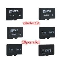 Grote Promotie! 10 Stks/partij 2 Gb 1 Gb 128 Mb 256 Mb 512 Mb Micro Tf kaart Microsd Geheugenkaart (secure Digital) transflash Kaart