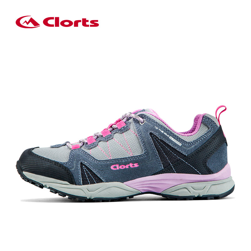 Clorts Low-cut Breathable Trekking Shoes Waterproof Hiking Shoes for Women Leather Mountain Hiking Boots 3D028C clorts new hiking boots for women breathable mountain boots waterproof climbing outdoor shoes hkm 823b e f