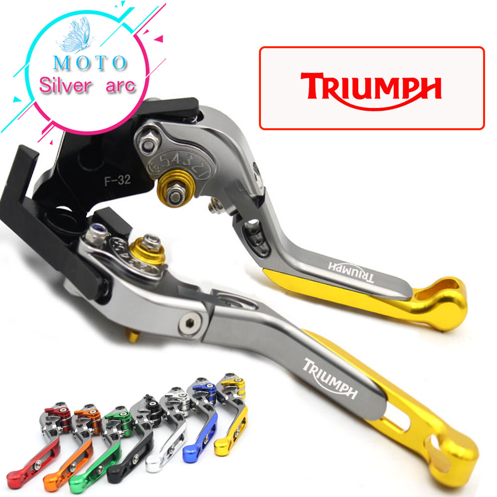 CNC Adjustable Motorcycle Brake Clutch Levers For Triumph 675 STREET TRIPLE 2008 2009 2010 2011 2012 2013 2014 2015 adjustable billet extendable folding brake clutch levers for triumph daytona 675 r 2011 2015 speed triple 1050 r 12 15 2013 2014