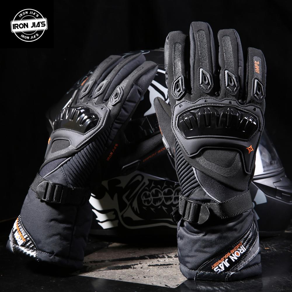 Prix pour Fer de jia moto gants écran tactile hiver chaud et imperméable de protection gants guantes moto luvas alpine motocross étoiles