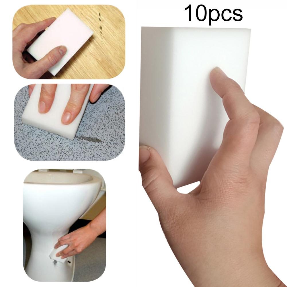 10Pcs Magic Sponge Eraser Kitchen duster wipes Home Clean Accessory Microfiber Dish Cleaning Melamine sponge Kitchen Cleaning in Sponges Scouring Pads from Home Garden