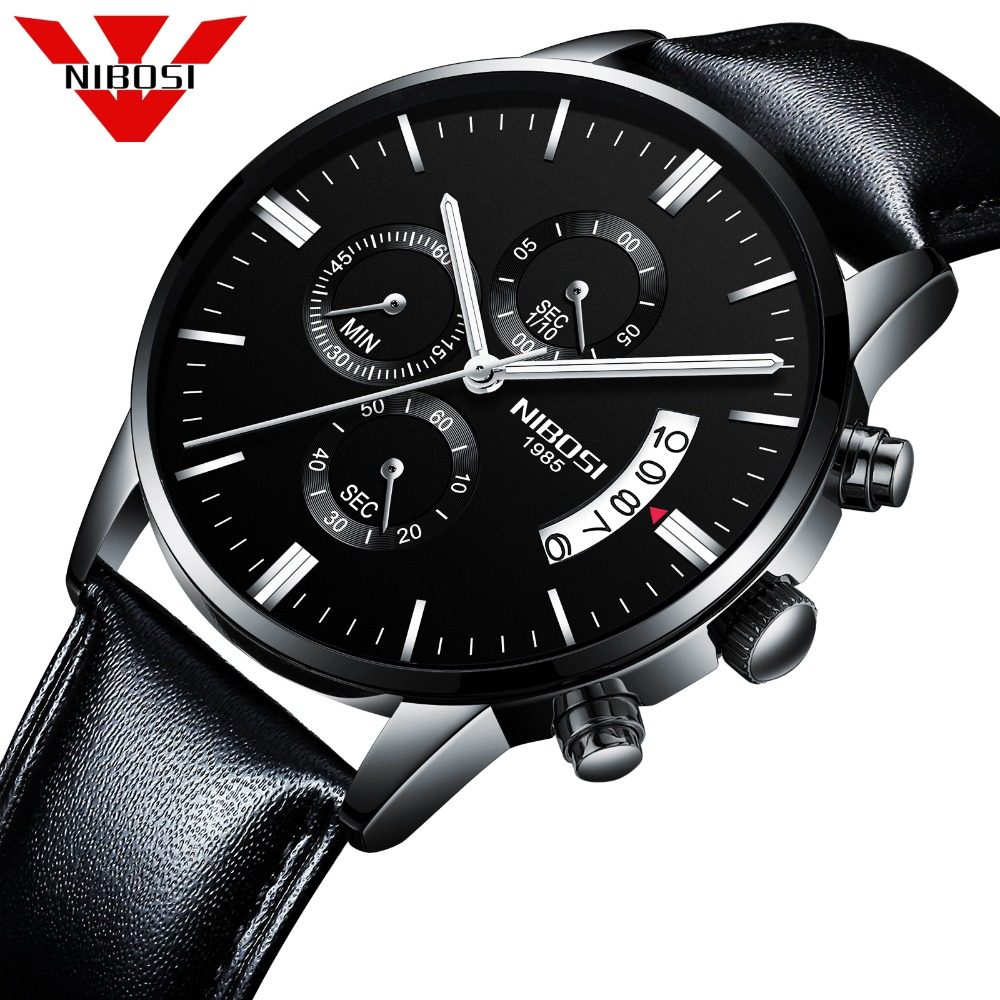 2018 NIBOSI Fashion Men Watches High Quality Quartz Analog Watch Stainless Steel Waterproof Wristwatches For Men Business цена и фото