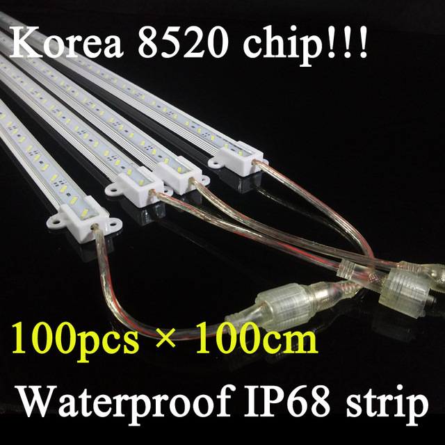 100pcslot 100cm wtarproof ip68 korea 8520 rigid strip dc12v led 100pcslot 100cm wtarproof ip68 korea 8520 rigid strip dc12v led rigid light bar with mozeypictures Gallery