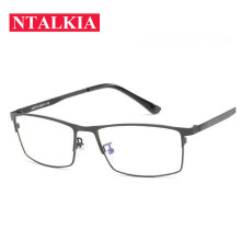 New Anti Blue Rays Metal Square Frame Al-Mg Leg Aluminium Glasses Business Men for Computer Gaming Lenses Myopia Optical