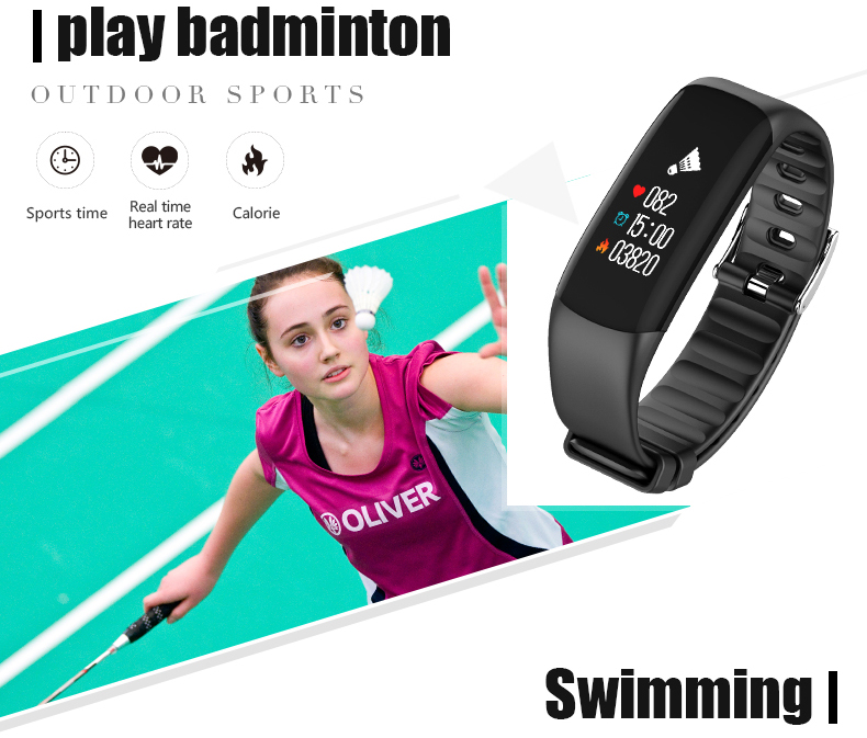 P7 Smart Wristband Bluetooth 4.0 Band Heart Rate Monitor Sport IP67 Waterproof OLED Smartband Bracelet For Android IOS Phone (5)