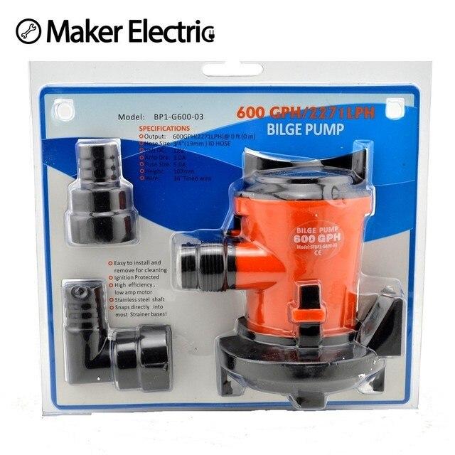 mkbp1 g600 03 3 4 hose 600gph 12v solar bilge pump with marine rh aliexpress com