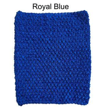 Вязанная крючком юбка-пачка для маленьких девочек, 9 дюймов, топы-трубы, обхват груди, широкая вязаная крючком, топы, юбка-пачка «сделай сам», платье, поставщик - Цвет: Royal blue tutu top