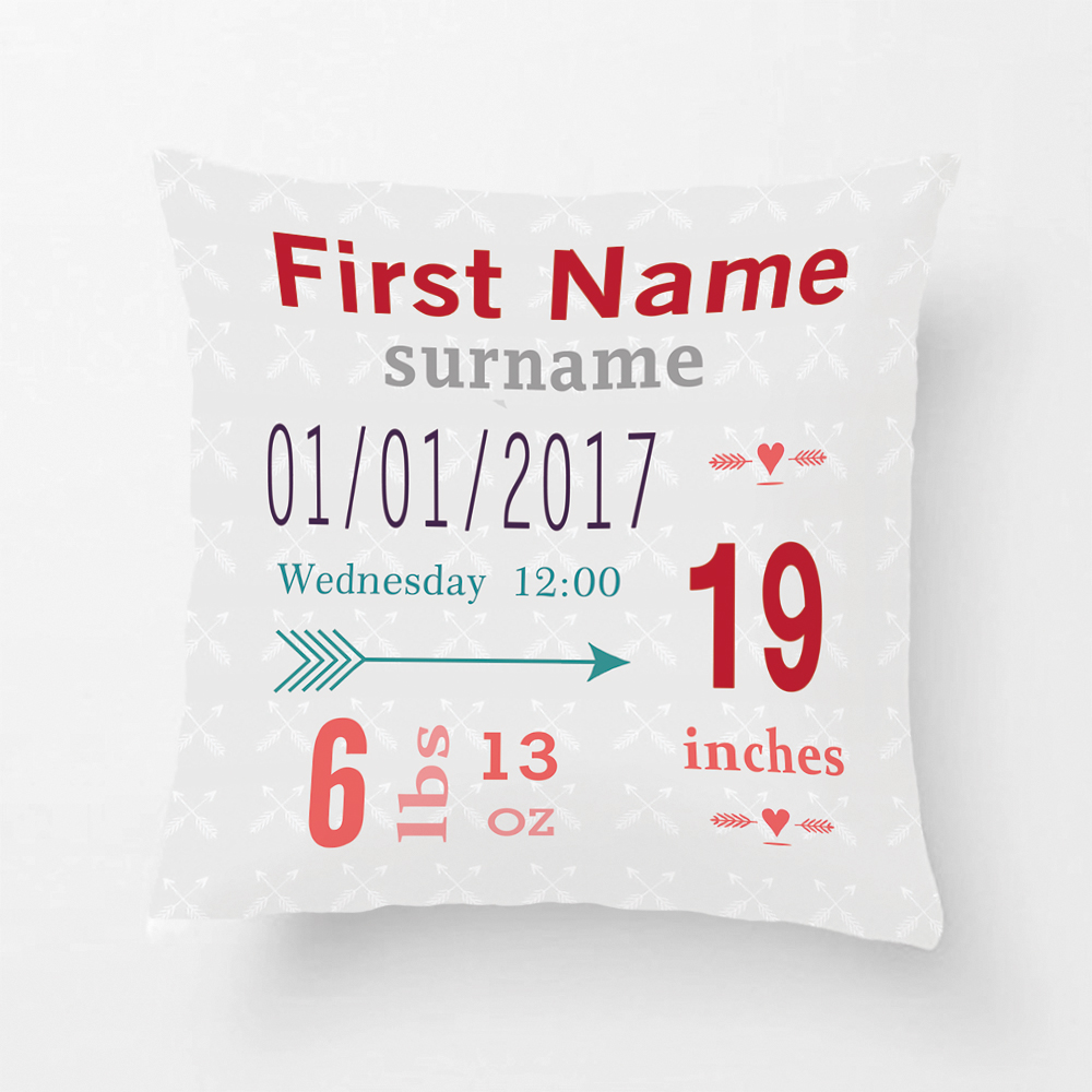 BoyS Nursery Room Baby Stat Arrow Pattern Throw Cushions Decorative Cushion Cover Pillow Case Customize Gift By Lvsure For Car