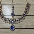 Artesanal Kundan pedras cabeça cadeia cabeça jóias cadeia cabelo estilo Grego PANJA