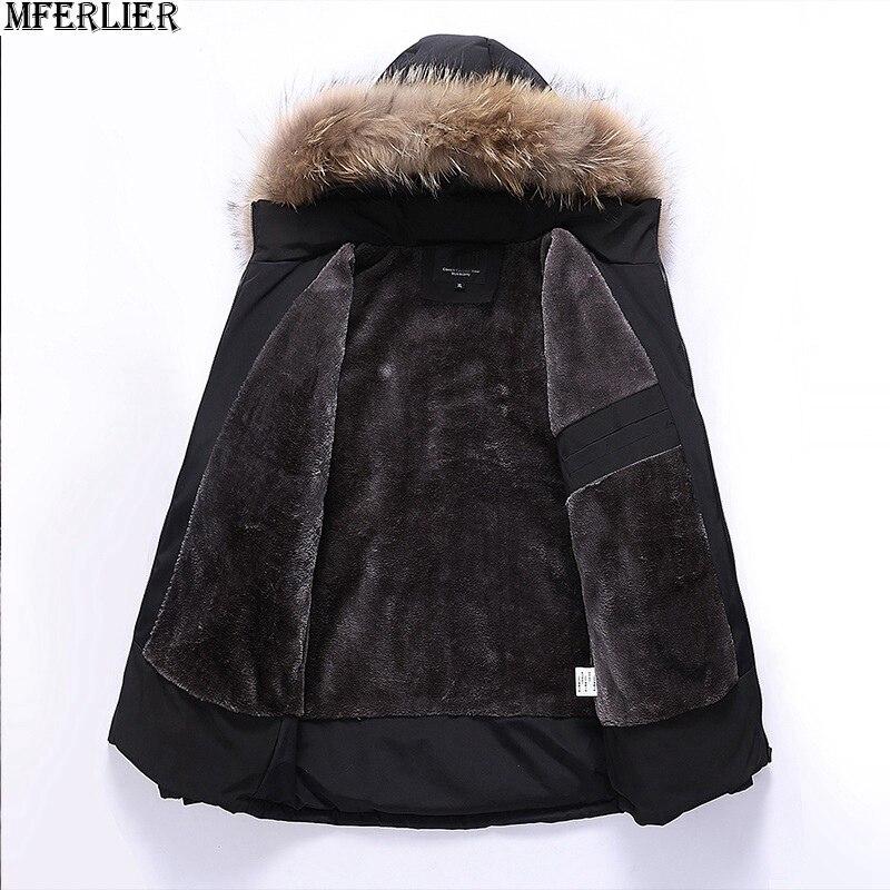 Mferlier 겨울 남성 파카 재킷 두꺼운 양털 후드 5xl 8xl 따뜻한 플러스 대형 빅 아웃웨어 코트 6xl 9xl 남자 루스 파커 52-에서파카부터 남성 의류 의  그룹 3