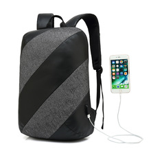 Backpack For Men Fashion Backpack Laptop Oxford USB charging Anti Theft Waterproof Travel Backpack For Male Women School Bags unisex laptop backpacks anti theft bags for men s for women oxford usb composite for school trip for teens green shoulder bag