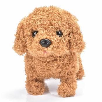 Робот собака электронная собака плюшевый щенок прыжок Wag хвост поводок Тедди игрушки Прогулки лай забавные игрушки для детей подарок на ден...