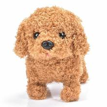 Chú Chó Robot Điện Tử Chó Sang Trọng Con Chó Con Nhảy Wag Đuôi Dây Xích Teddy Đồ Chơi Đi Bộ Vỏ Cây Đồ Chơi Ngộ Nghĩnh Cho Trẻ Em Quà Tặng Sinh Nhật
