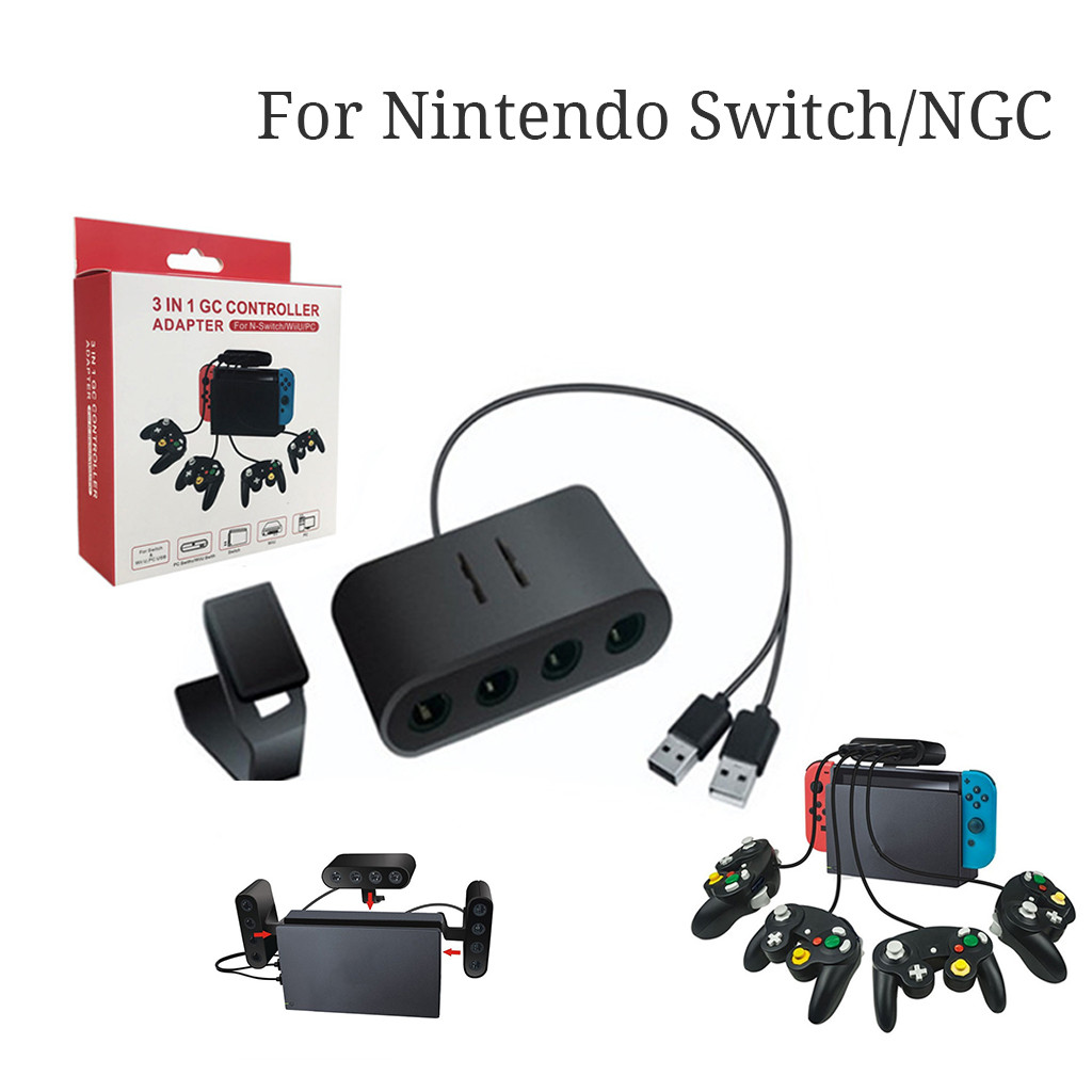 Converter For Nintend O Switch/Wiiu/PC/NGC 3in1 4Port USB For Game Cube Controller Adapter With 2 For Gamecube Controller