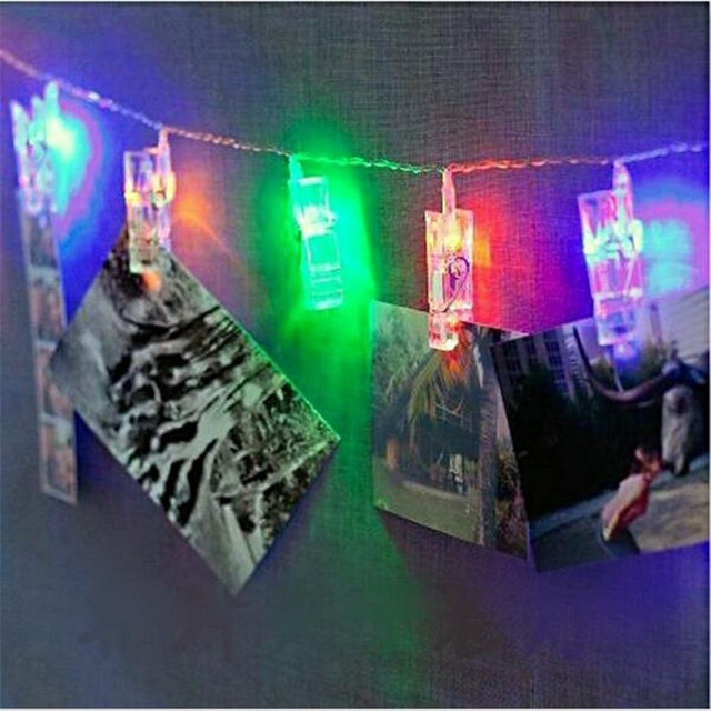 1 M de LED Lámpara de foto para  Decoraciones el Hogar