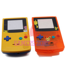 For GameBoy Color  Limitd Edition Clear Orange Yellow Replacement Housing Shell For GBC Housing Case Pack