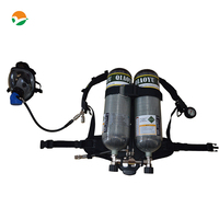 Fire Fighting Equipment SCBA With Double 6 8 Carbon Fiber Cylinders One Mask