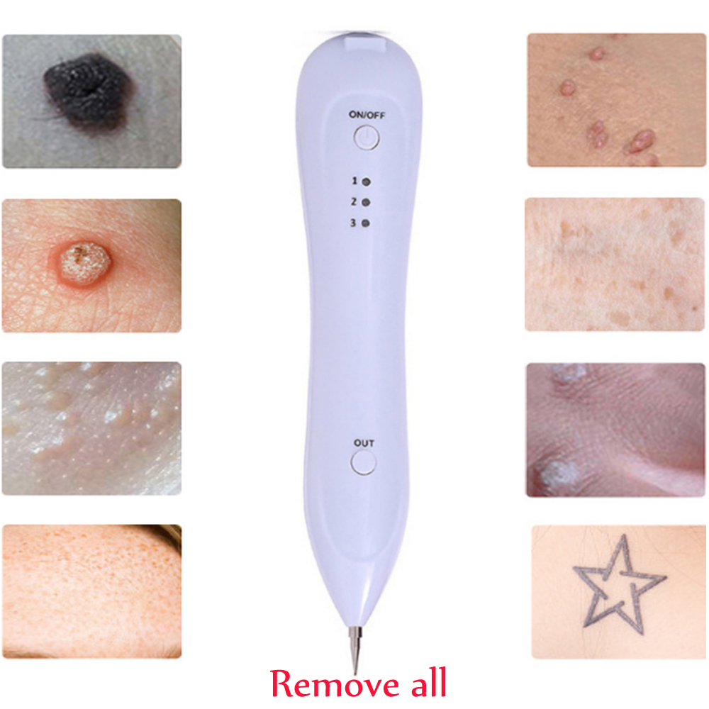 Laser Freckle Removal Machine Skin Mole Removal Dark Spot Remover Facial Freckle Tag Wart Removal Beauty Care Device