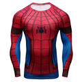3D Printed T-shirts Spider Man Captain America Civil War Tee Raglan Long Sleeve Cosplay Costume Fit  Clothing Tops Male