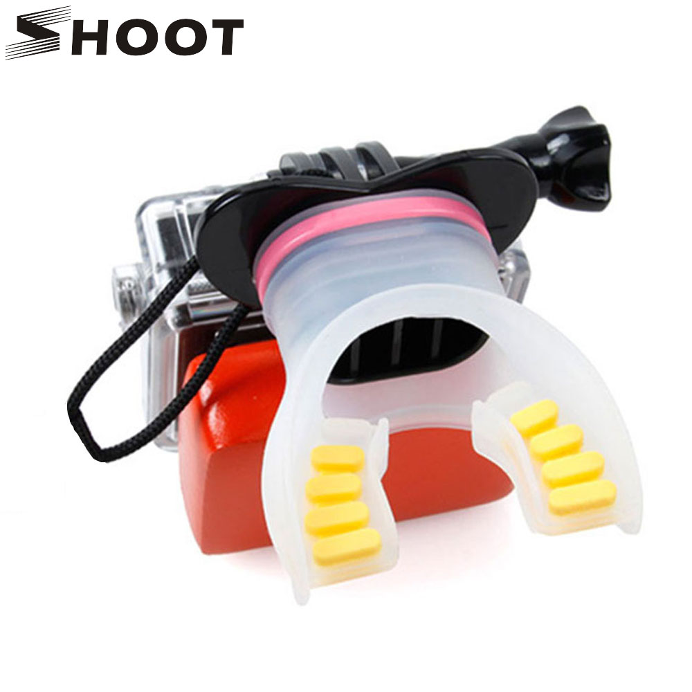 Universal Teeth Style Mount Surfing Diving Shoot Set Dummy Bite for GoPro Hero 4 3 3+ 2 SJ4000 SJ5000 Go Pro Mouth Accessories