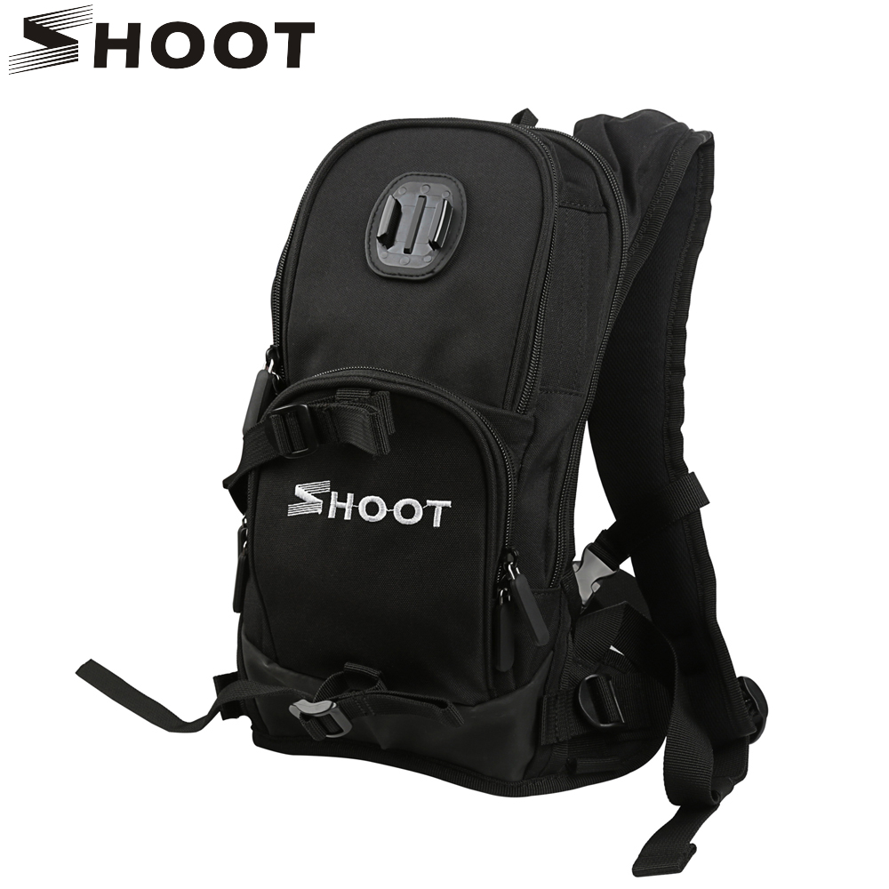 SHOOT Motorcycle Bicycle Selfie Backpack for GoPro Hero 6 5 4 Session Yi 4K SJCAM H9 Action Camera with Cycling Pole Stick Mount