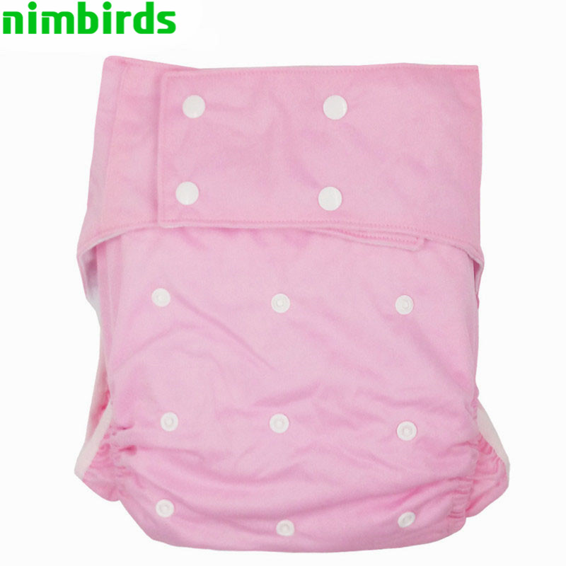 One Size Adult Cloth Diapers Reusable Nappies With Suede Inner Incontinence Pants Nappy Washable Diaper For The Disabled Person